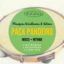 Pack Pandeiro Izzo + Méthode DVD + remo skin special pandeiro + bag