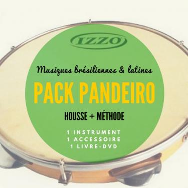 Pack Pandeiro Izzo + Peau remo spéciale pandeiro + Méthode DVD + Housse