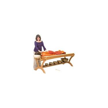 Table pour massages sonores en cerisier (ou frêne) TOUT INCLU