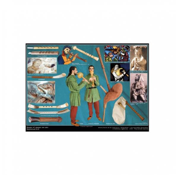 Médiéval'Kit - Autour du Moyen Âge - 12 Posters + 1 DVD + 1 fichier PDF
