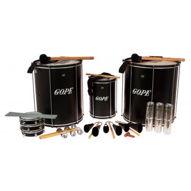 PK-45ABK14 - Samba Pack Black Surdo 45cm - 14 Instruments