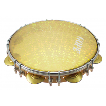 "PA11D8HOL-Y - 11"" Pandeiro Double Lugs Yellow Holographic Head"