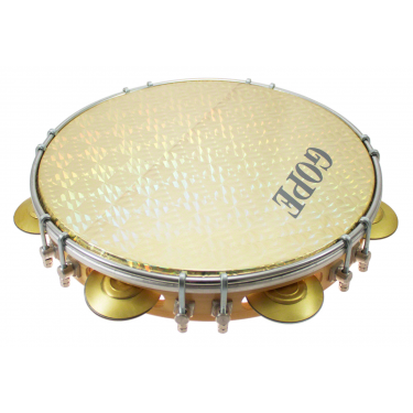 "PA10D7HOL-Y - 10"" Pandeiro Double Lugs Yellow Holographic Head"
