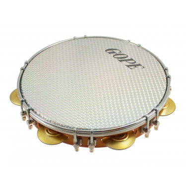 "PA10D7HOL-WH - 10"" Pandeiro Double Lugs White Holographic Head"