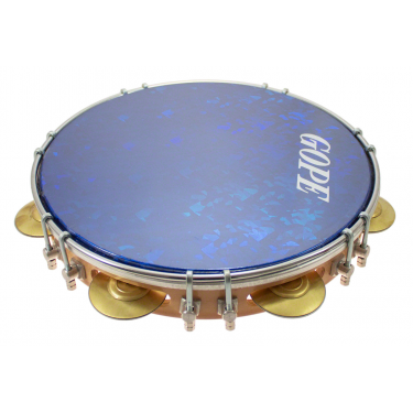 "PA10D7HOL-BL - 10"" Pandeiro Double Lugs Blue Holographic Head"