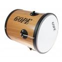 """RM1030WO-HBK - 10"""" Wooden Repique de Mao Black Hoop - 30cm Depth - Gope"""