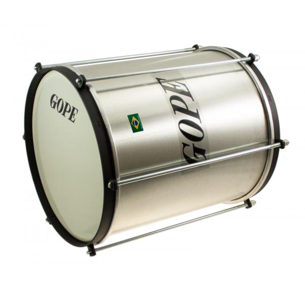 "REP1030AL-HBK - 10"" Alu Repinique Black Hoop - 30cm Depth - Gope"