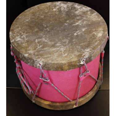 Tambour gnawa - Modèle traditionnel cercle bois + peau naturelle