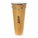 """Timbal Bois 14"""" x 90 cm - 6 Tirants - Cercle Chrome - Gope"""