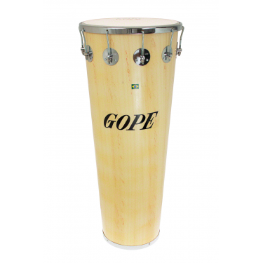 "TM1490WO-10CR - 14"" Wooden Timbal 10 Lugs Chrome - 90cm Depth"