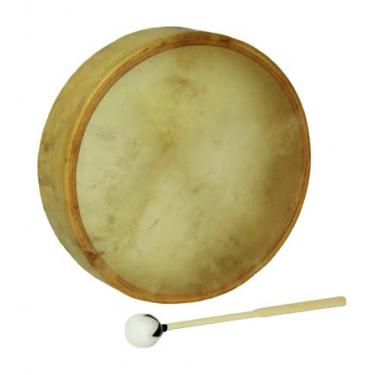 """Tambour chamane - Native Drum - Peau de vache parcheminée - 18"""""""
