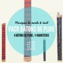 Pack de 4 bâtons de pluie - Roots