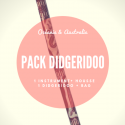 Pack Didgeridoo - Carved bamboo and bag