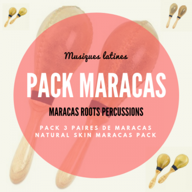 Pack Natural skin Maracas (3 pairs) - Roots Percussions