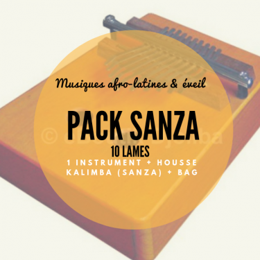 Pack Sanza 10 lames penta + housse - Roots Percussions
