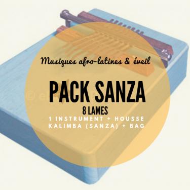 Pack Sanza 8 lames diatonique + housse - Roots Percussions