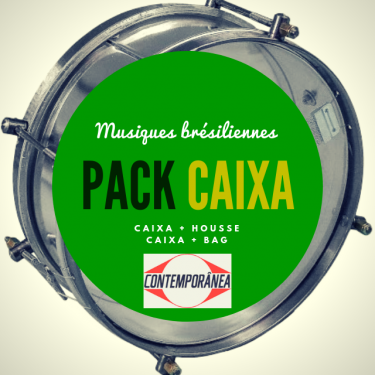 "Pack Caixa guerra 12"" x 15 cm Contemporanea Light + housse - Roots"