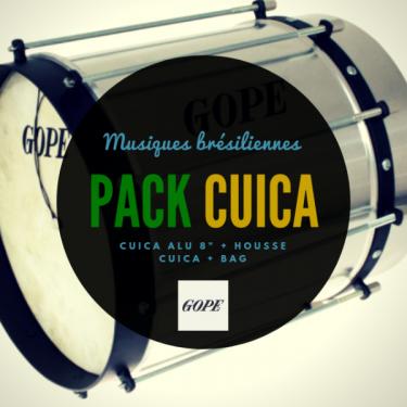 "Cuica Alu 10"" x 30 cm - peau naturelle - Cercle Noir - Gope"