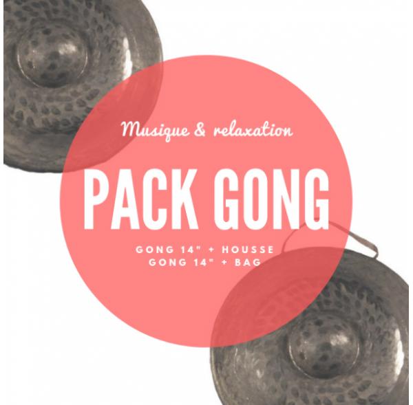 """Pack Gong nord-vietnamien 14"""" et housse deluxe - Roots"""