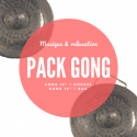 "Pack Gong nord-vietnamien 14"" + housse deluxe Roots Percussions"