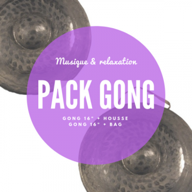 """Pack Gong nord-vietnamien 16"""" + housse deluxe Roots Percussions"""