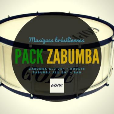 "ZA2020AL-HBK - 20"" Alu Zabumba Black Hoop - 20cm Depth"