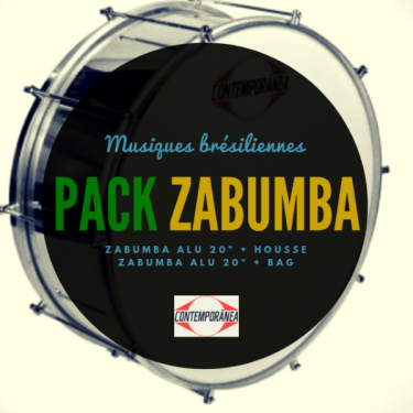 "Pack Zabumba 20"" x 20 cm alu - Contemporânea et housse deluxe - Roots"