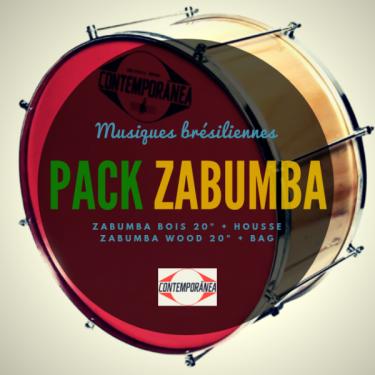 Zabumba 20' x 20 cm wood Contemporânea