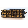 Indian anklets (3 rows on leather with buckle) - Pair