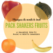 Pack 4 fruits shakers - Roots Percussions