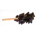 Crécelle sur manche avec grappe d'entada petites graines - Roots Percussions