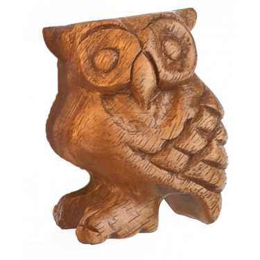 Wooden owl bird calls and sounds - 8.5 cm
