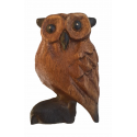 Wooden owl bird calls and sounds - 10 cm - Roots Percussions