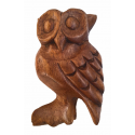Wooden owl bird calls and sounds - 12.5 cm - Roots Percussions