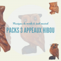 Pack 3 Appeaux Hibou en bois - Roots Percussions
