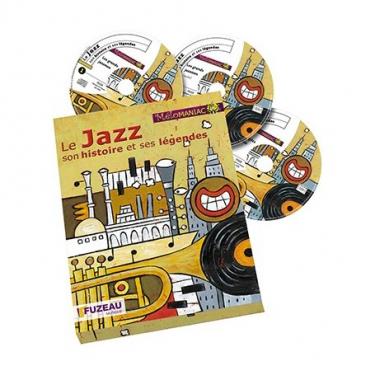 Le jazz, son histoire et ses légendes coffret avec 3 CD