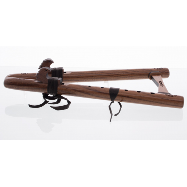 Native Flute Double Kestrel (D) - Walnut