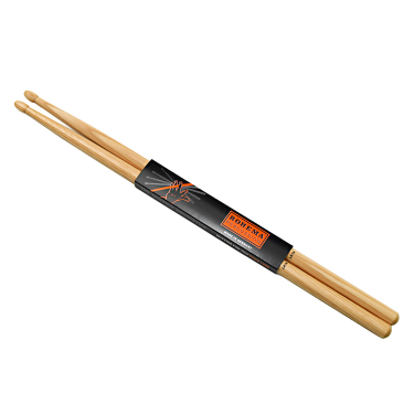 Baguettes de batterie Light Rock 7A Hickory - la paire - Rohema