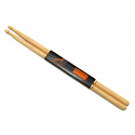Baguettes de batterie Light Rock 5A Hickory - la paire - Rohema