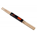 Baguettes de batterie Natural Light Rock 5A Hickory - la paire - Rohema