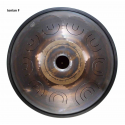 """Steel Tongue Drum 9 notes - 18"""" - F Ionian - SWD"""