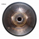 """Steel Tongue Drum 9 notes - 18"""" - Eb Minor - SWD"""
