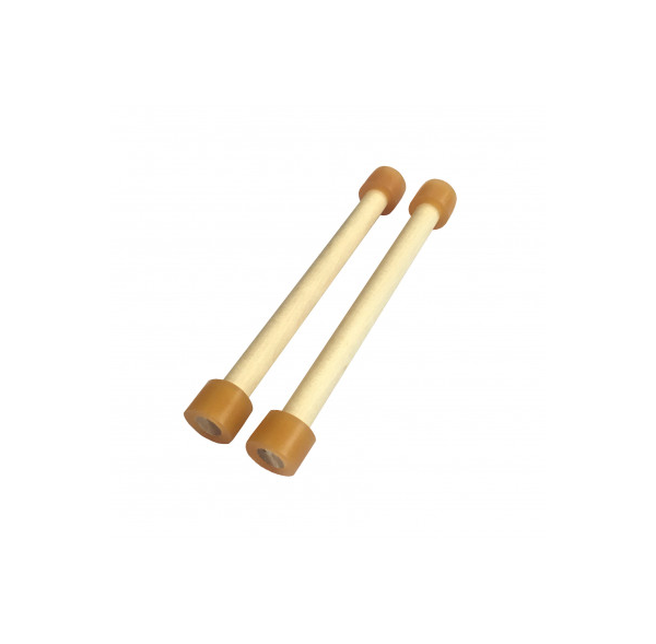 Baguettes doubles en bois pour Spacedrum