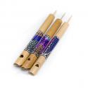 """Flûte à coulisse en bambou peint type """"oiseau"""" petite"""