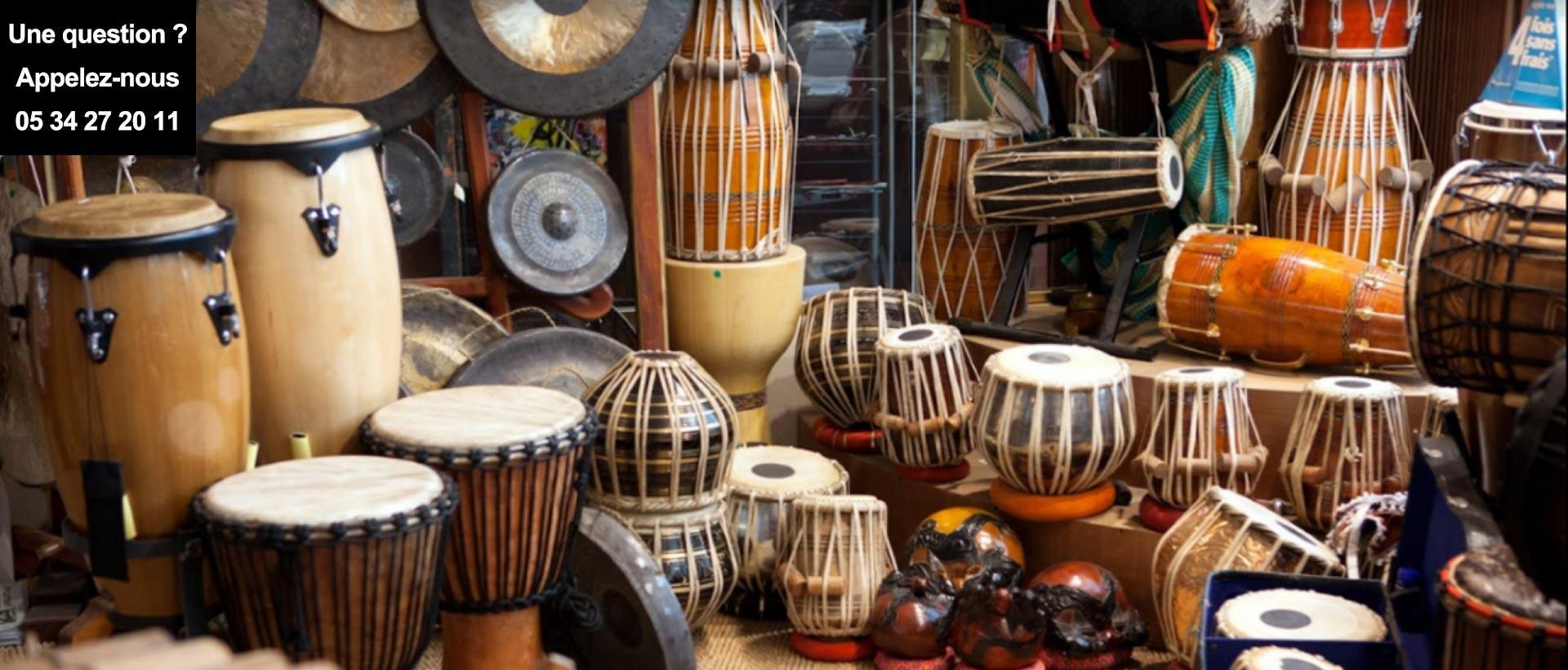 Instruments de musique ethniques et percussions intuitives