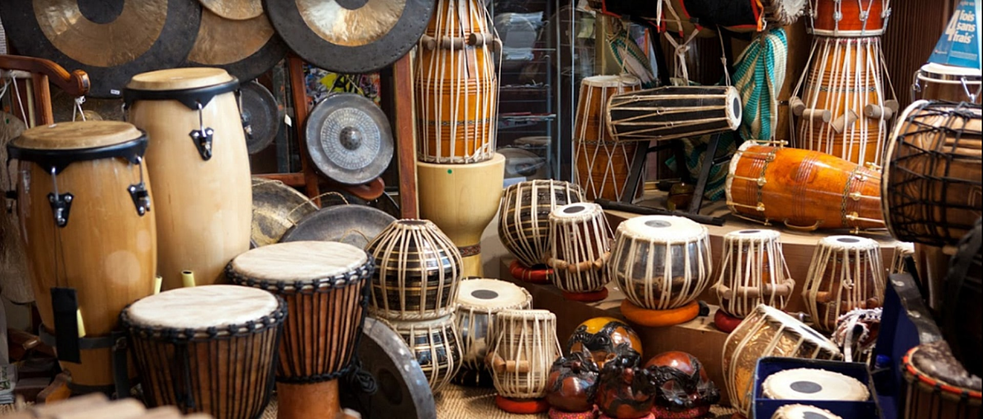 Music instruments and intuitive percussions